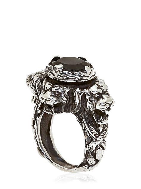 Kd2024 Hand-engraved Jaguar Ring in Black for Men