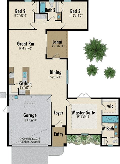 florida home plans capitol homes courtyard