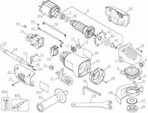 Dewalt Dw802g Angle Grinder Parts  Type 1  Parts
