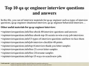 qa engineer interview questions top 10 qa qc engineer interview questions and answ