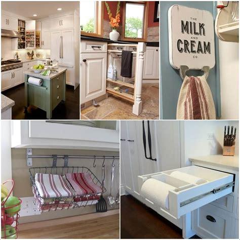clever kitchen ideas 15 clever kitchen towel storage ideas