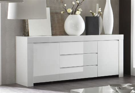 Sideboard And Display Cabinet by Rimini Collection Two Door Three Drawer Sideboard White