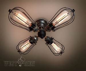 Rustic semi flush mount ceiling light kitchen new