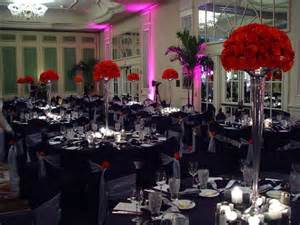party venues in md black white centerpieces chairs indoor reception