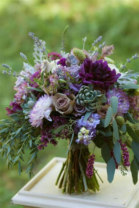 ideas  purple wedding bouquets  pinterest