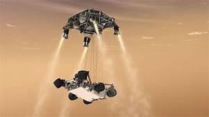 Curiosity's Sky Crane Maneuver, Artist's Concept   NASA