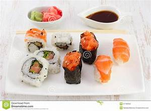 Japanese Food On The Plate Stock Photography - Image: 27783552