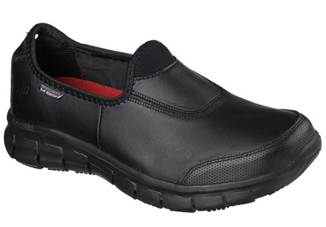 boys black hiking boots womens skechers work slip resistant memory foam black