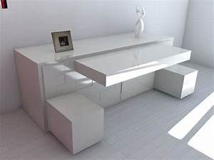 Bureau Moderne Design : le bureau escamotable d cisions pour les petits espaces ~ Teatrodelosmanantiales.com Idées de Décoration