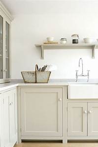 devol 39mushroom39 paint shaker kitchen remodelista sink With kitchen colors with white cabinets with framed elephant wall art