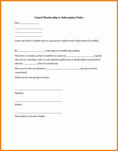 Cancellation Of Contract Letter 8 Gym Membership Cancellation Letter Sales Slip Template