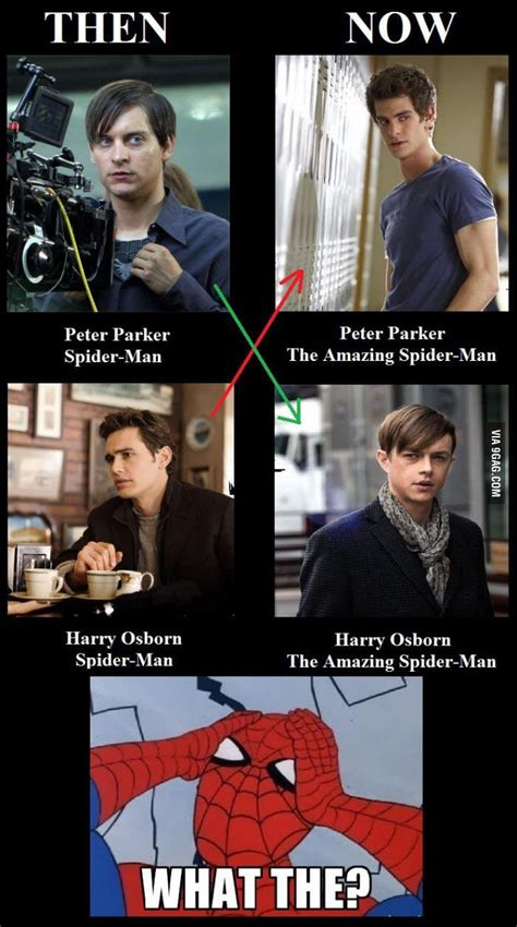 Spiderman Movie Meme - 9gag on twitter quot after watching the amazing spider man 2 i just can t unsee this http t co