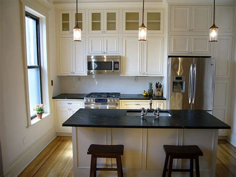 kitchen cabinets with soapstone countertops soapstone waterfall countertops design ideas White
