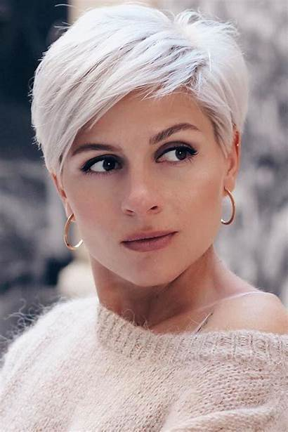 Short Pixie Haircuts Messy Blonde Platinum Thick