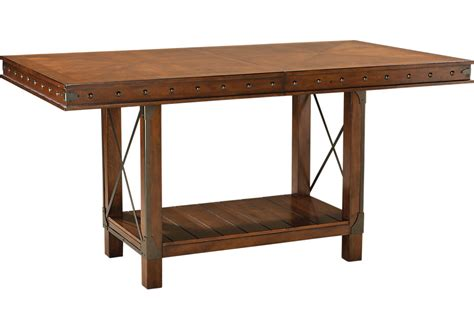 counter height kitchen sets hook pecan rectangle counter height dining table