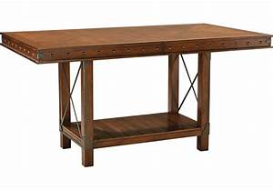 Red Hook Pecan Rectangle Counter Height Dining Table