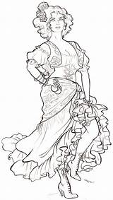 Dancer Sketch Spanish Gipsy Coloring Sketches Gypsy Flamenco Pages Deviantart Template Drawings Draw Adult Line Outline Ballerina Becuo Templates Deviant sketch template