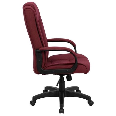 high back executive office chair in burgundy go 5301b by gg