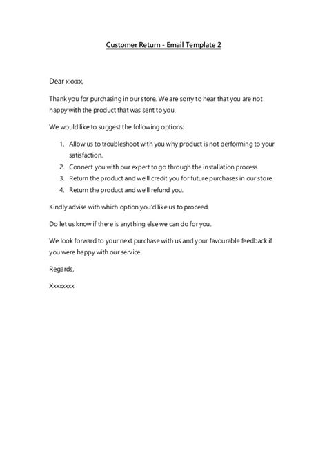 Customer Support Email Template by Email Templates Customer Service