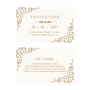 wedding invitation cards wedding invitation card vector free