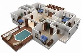 Home Layout Design Ideas 3d 3 Bedroom House Floor Plans 3d Home Design And Home Plan With