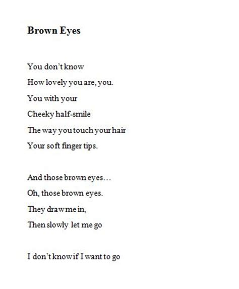 Brown Hair Poem by The 25 Best Brown Eye Quotes Ideas On Brown