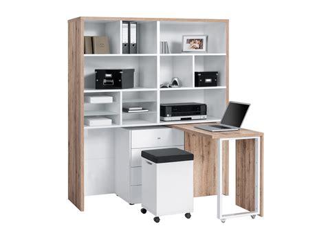meubles rangement bureau meuble rangement bureau modulable table de lit a roulettes