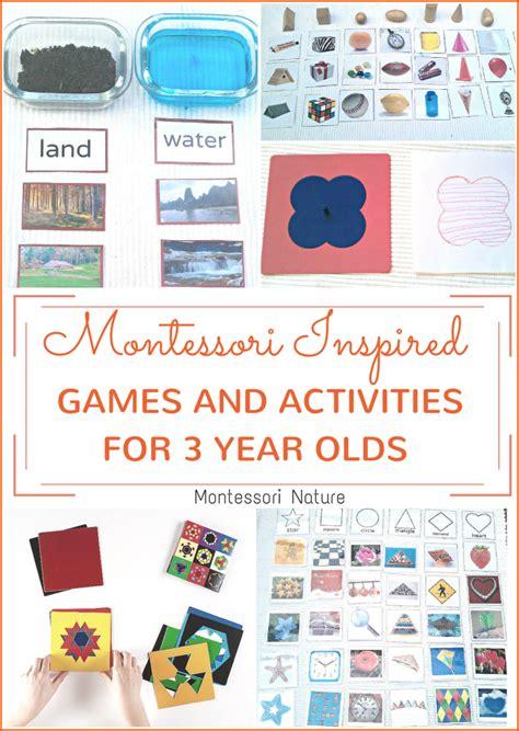 montessori inspired activities  games   year olds