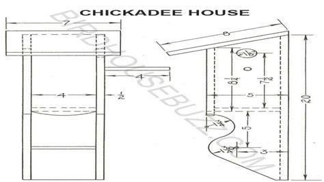 chickadee bird house plans  birdhouse  chickadee house blueprints  treesranchcom