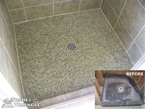 pictures of tiled triangle showers studio design