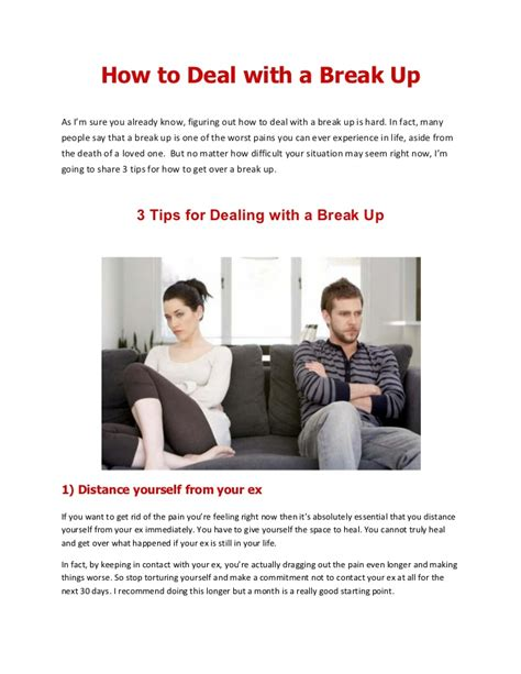 How To Deal With A Break Up  3 Tips For Dealing With A