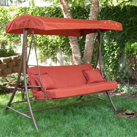 9 cool and cozy patio swing with canopy designs