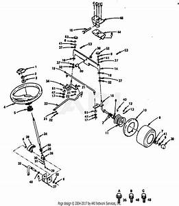 Poulan Pp1844 Tractor Parts Diagram For Steering  Front Axle And Wheels