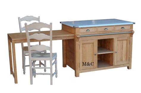 billot central de cuisine ilot central en bois massif
