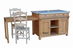 Cuisine Bois Massif : ilot cuisine bois massif ~ Premium-room.com Idées de Décoration