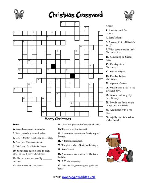 best christmas puzzles and answers 5 best images of printable crossword puzzles answers crossword