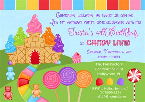 Candyland Party Invitations Cake Ideas And Designs