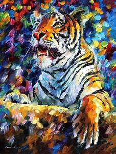 ANGRY TIGER — Palette knife Oil Painting on Canvas by ...