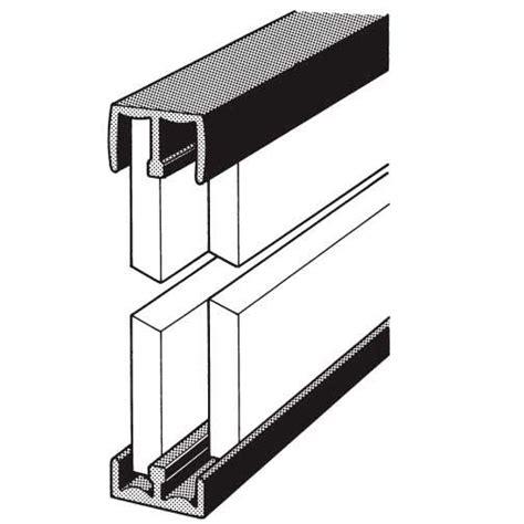 1 4 inch sliding door tracks plastic