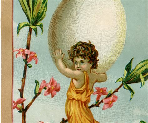 vintage easter egg fairy image  graphics fairy