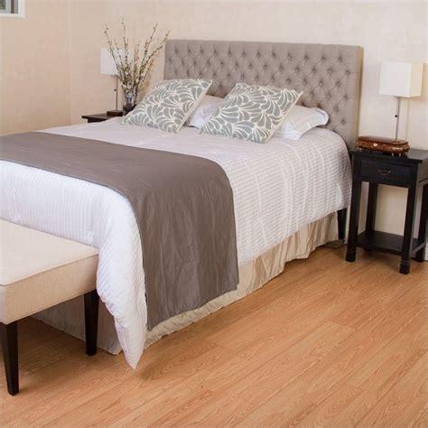26474 beige tufted bed trent home adjustable tufted panel