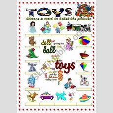 Toys Vocabulary 1(word Mosaic Included)  Esl Worksheet By Damielle