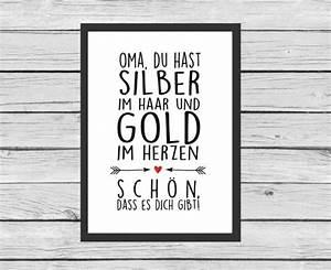 Geschenke Für Oma Und Opa Selber Machen : typo f r oma und opas art print for granny and grandpa ~ Watch28wear.com Haus und Dekorationen