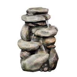 shop garden treasures 30 67 in resin rock waterfall