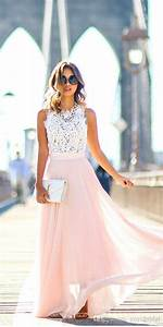 white lace pink chiffon bridesmaid dresses cheap long With white dress for beach wedding guest