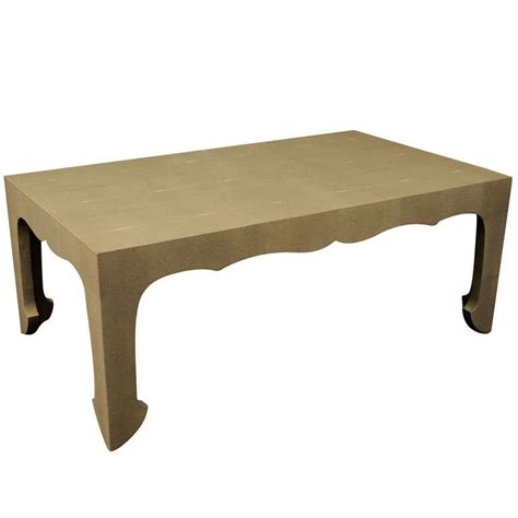 shagreen coffee table square chinoiserie style shagreen coffee table at 1stdibs