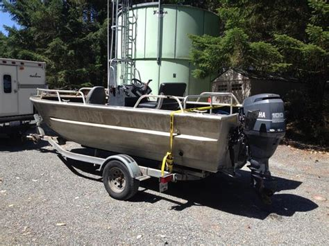 Aluminum Boats Vernon Bc by 18 Foot Daigle Welded Aluminum Boat Outside