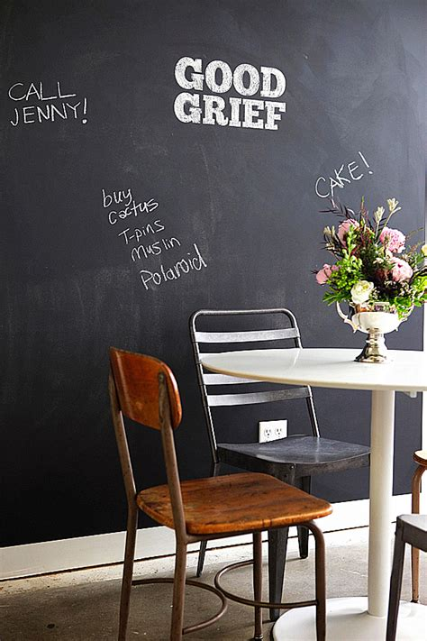 chalkboard paint ideas  writing   walls  fun