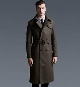 New fashion long coat men slim woolen X long trench coat classical british style overcoat winter ...