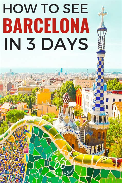 3 Day Barcelona Itinerary: To Things To Do In Barcelona ...